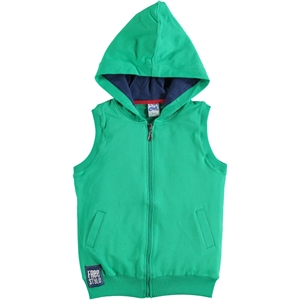 Civil Boys Yesil Age 6-9 Boy Hooded Vest