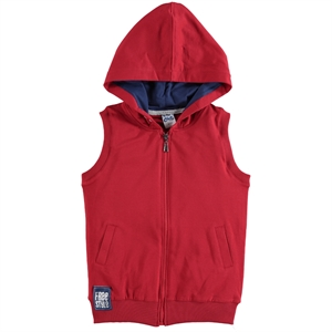 Civil Boys Red Hooded Vest Boy Age 10-13