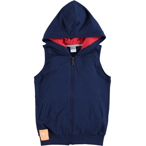 Civil Boys Navy Blue Hooded Vest Boy Age 10-13
