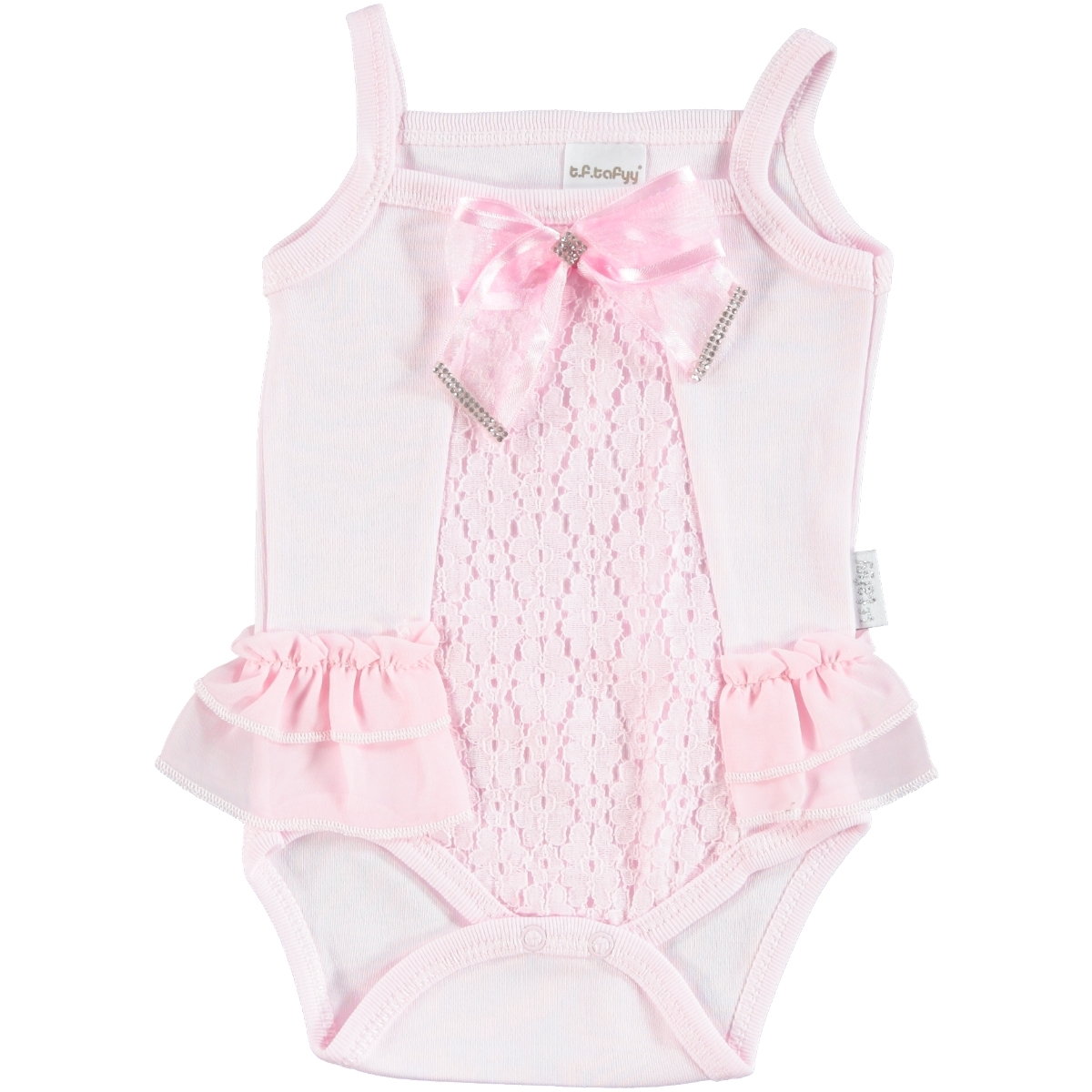 T.F.Taffy Baby Girl Bodysuit With Snaps Taffy Pink, 3-9 Months