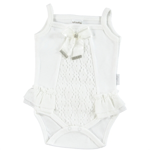 T.F.Taffy Baby Girl 3-9 Months Bodysuit With Snaps Taffy Ecru