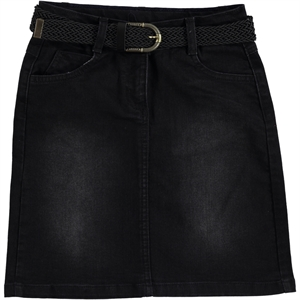 Civil Girls Black Denim Skirt Girl Age 6-9