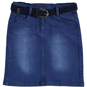 Civil Girls Saks Denim Blue Skirt Girl Age 10-13 (1)