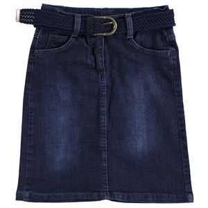 Civil Girls Navy Blue Denim Skirt Girl Age 6-9