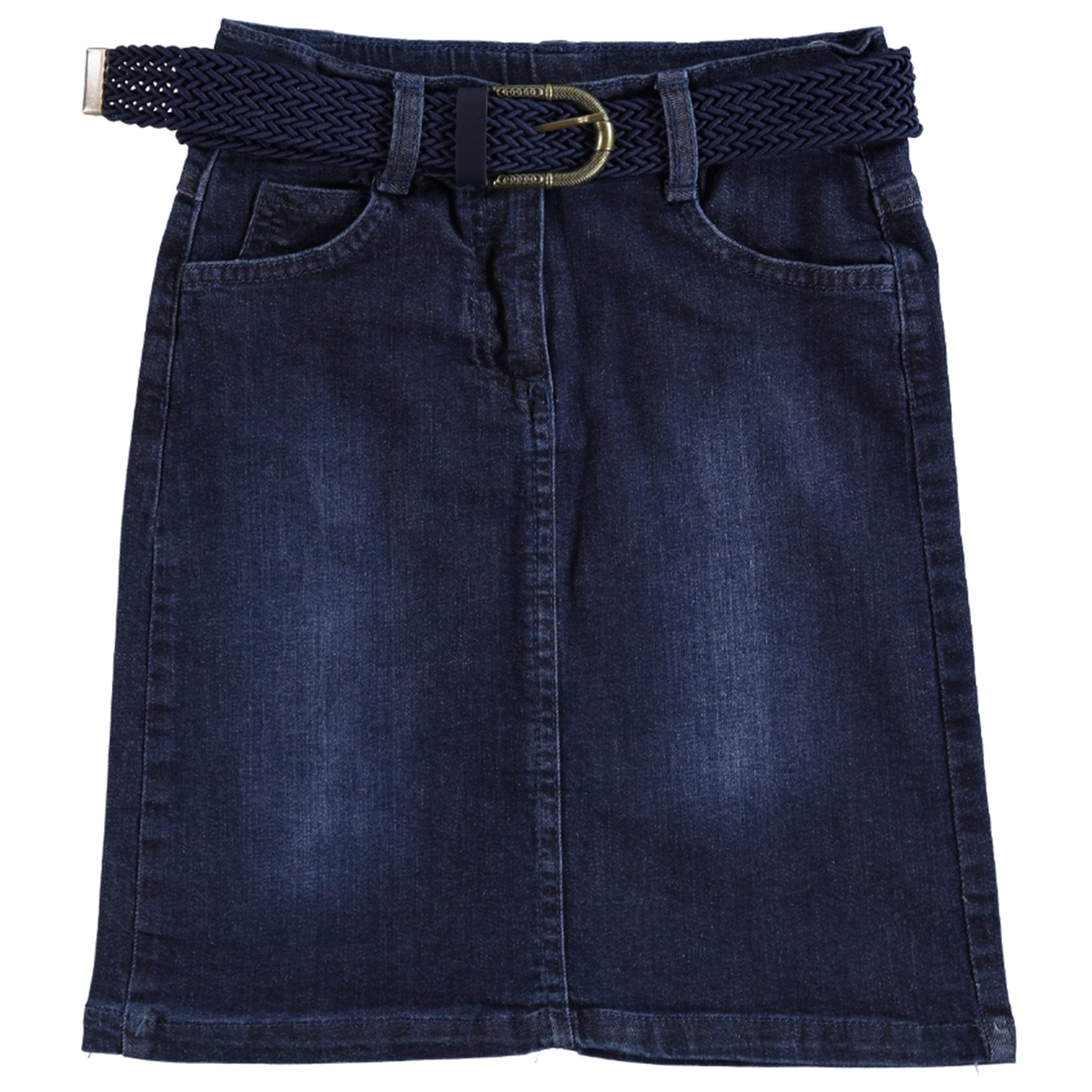 Civil Girls Navy Blue Denim Skirt Girl Age 10-13
