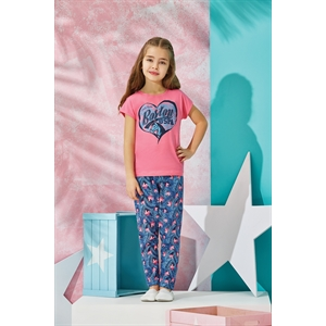 US POLO US Polo Girls Pink Pajama Outfit