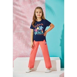 US POLO Children's Pajamas For Girls US Polo Navy Blue Team