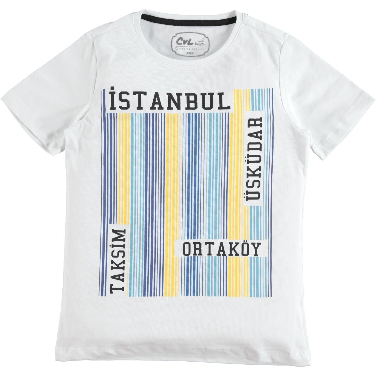 Cvl Boy T-Shirt White Ages 6-9