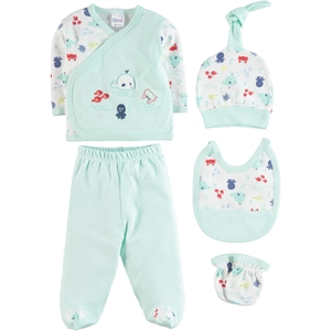 Misket Zibin Team 0-1 month baby boy 5 mint green