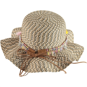 Kitti Brown Straw Hat Girl Ages 6-12 (1)