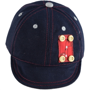 Kitti 0-18 Months, Baby Boy Navy Blue Hat Cap