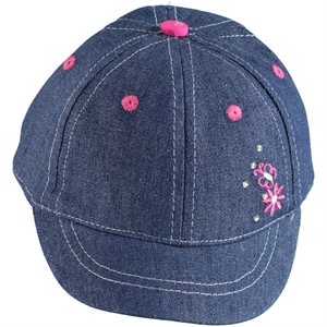 Kitti 0-18 Months Baby Girl Jeans Hat Blue