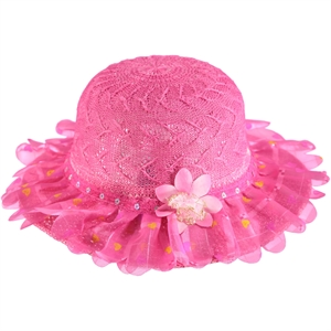 Kitti Fuchsia Straw Hat Girl 6-12 Years (1)