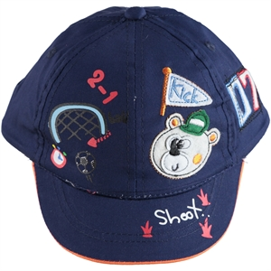 Kitti Age 1-4 Boy Cap Hat Navy Blue