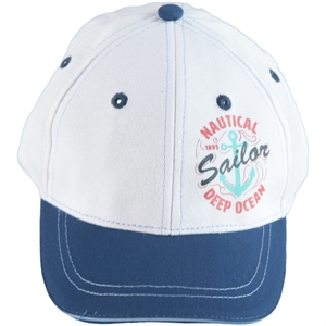 Kitti White Boy Cap Hat Ages 4-8