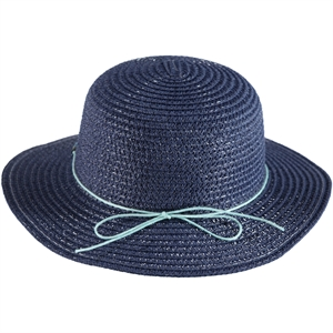 Kitti Girl Age 2-6 Navy Blue Straw Hat