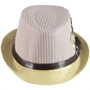 Kitti Straw Hat Brown Boy Ages 2-6