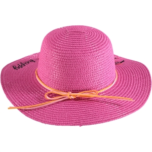 Kitti Fuchsia Straw Hat Girl Age 2-6