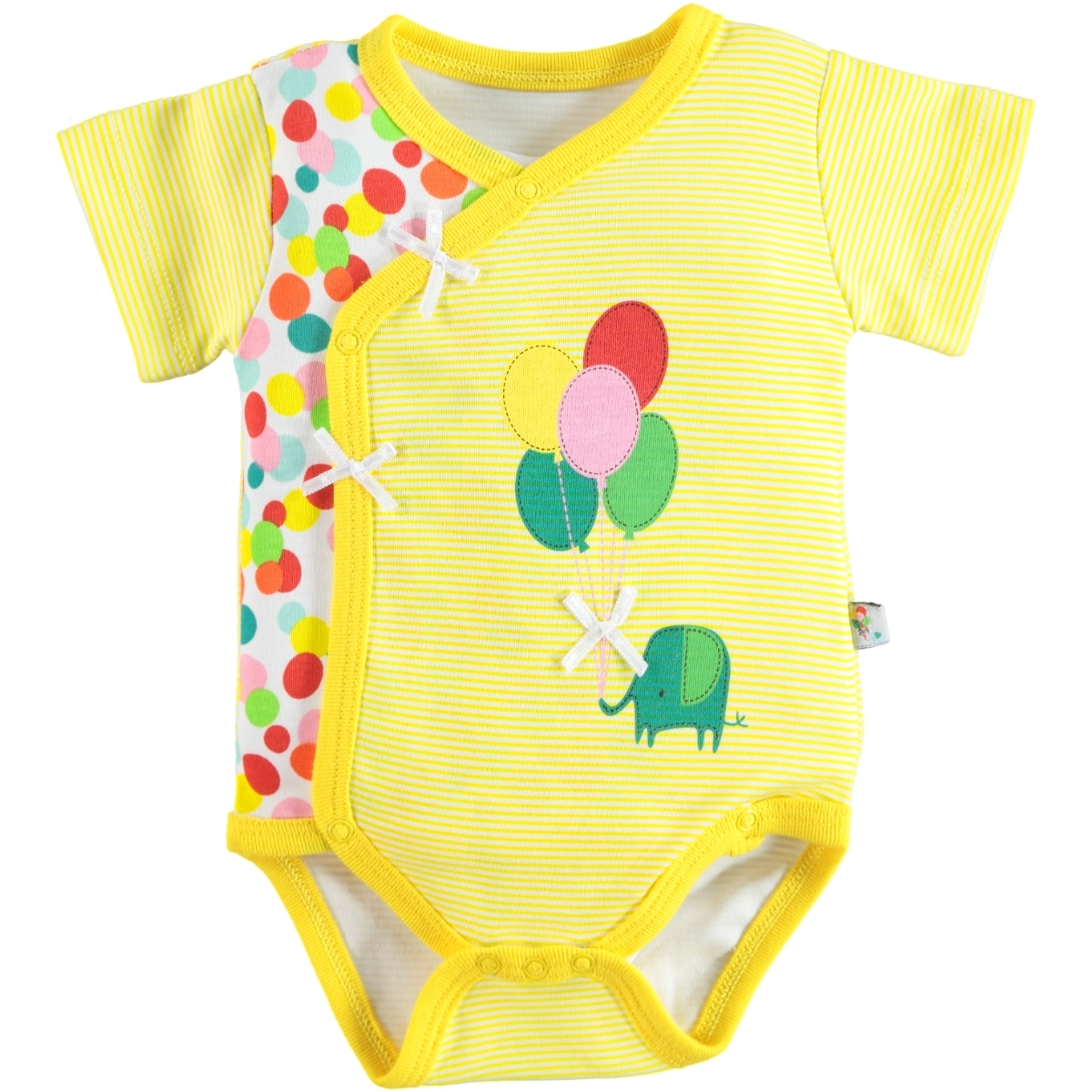 Babycool 1-6 Months Baby Girl Yellow Bodysuit With Snaps