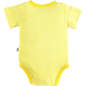 Babycool 1-6 Months Baby Girl Yellow Bodysuit With Snaps (3)