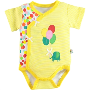 Babycool 1-6 Months Baby Girl Yellow Bodysuit With Snaps (1)