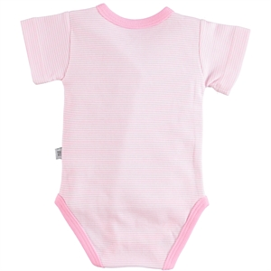 Babycool 1-6 Months Baby Girl Pink Bodysuit With Snaps (2)