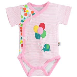 Babycool 1-6 Months Baby Girl Pink Bodysuit With Snaps (1)
