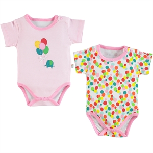 Babycool Baby girl 2-3-18 Months Pink Bodysuit with snaps