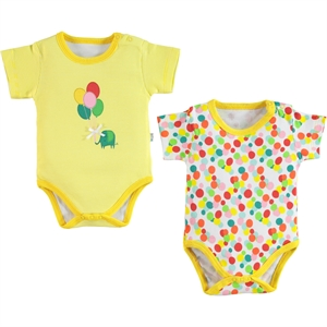 Babycool Baby girl 2-3-18 Months Yellow Bodysuit with snaps