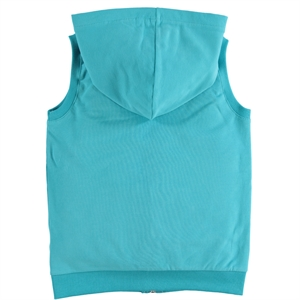 Cvl Mint Green Hooded Vest Girl Age 6-9 (3)