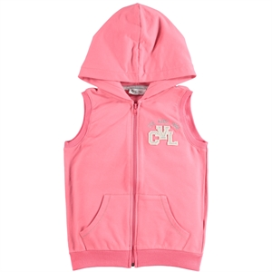 Cvl Pinkish Orange Hooded Vest Girl Age 6-9
