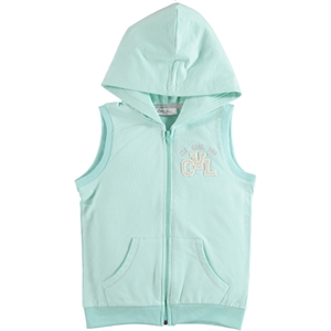 Cvl Mint Green Hooded Vest Girl Age 6-9