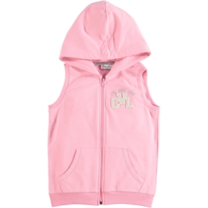 Cvl Age 6-9 Girl Pink Hooded Vest