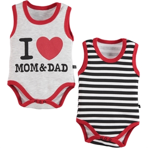 Babycool 3-18 Months Baby Boy Red Bodysuit With Snaps