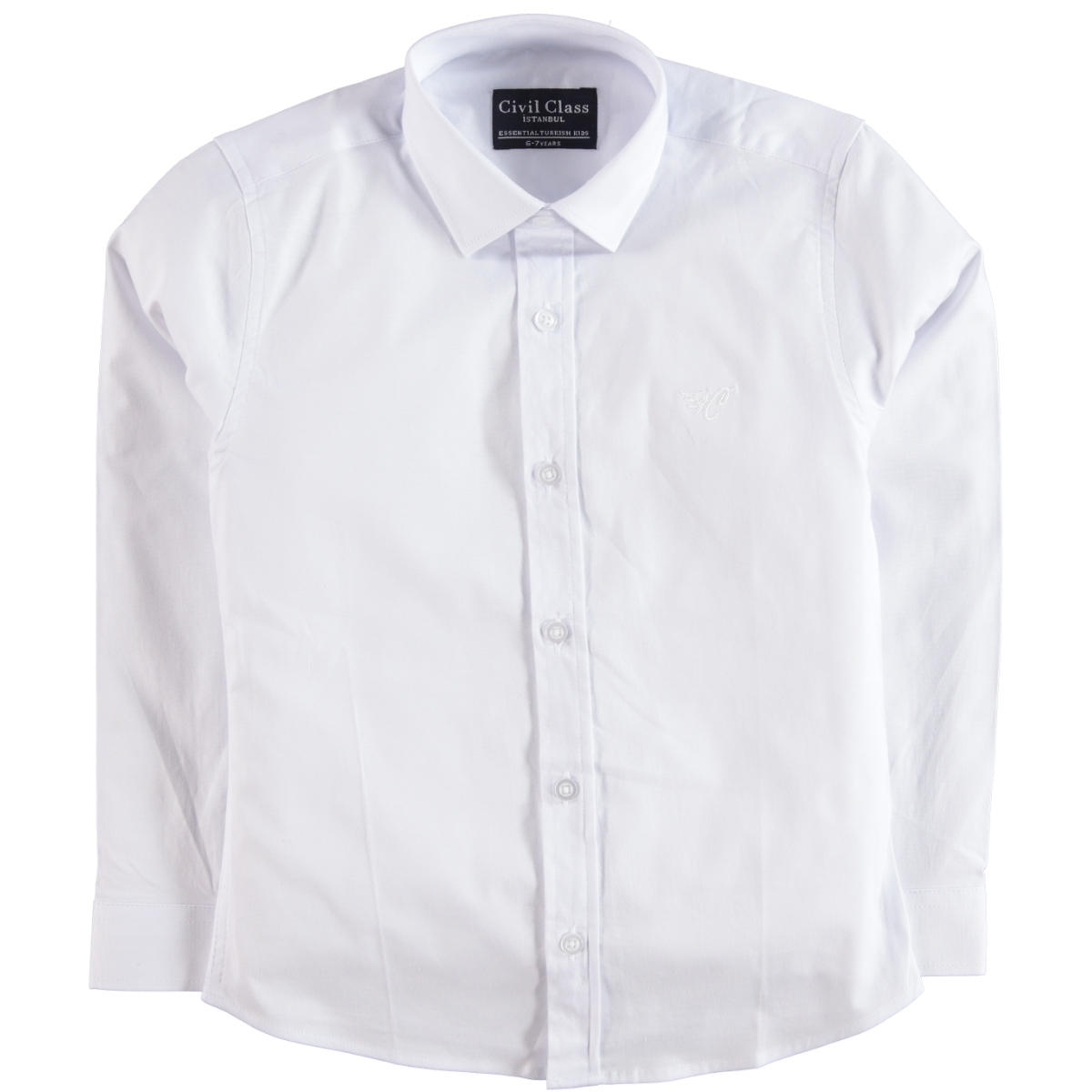 Civil Class White Shirt Boy The Ages Of 10-13
