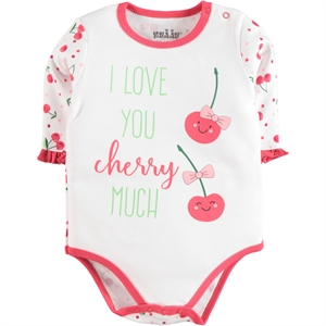 Kujju Baby Girl Bodysuit With Snaps-White, 12-24 Months