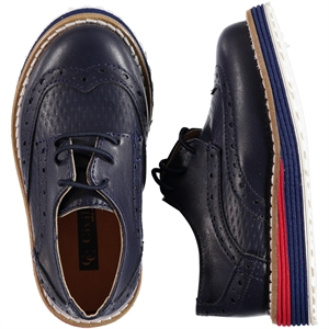 Civil Class Navy Blue Baby Boy Shoes 21-25 Number