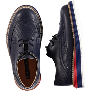 Civil Class Navy Blue Boy Shoes 26-30 Number