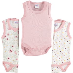 Misket Baby girl 3-way Bodysuit with snaps 0-12 months, powder Pink