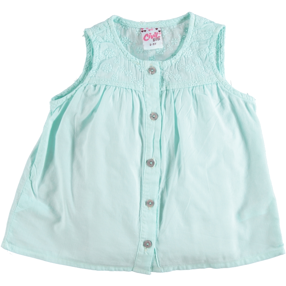 Civil Girls Mint Green Shirt Boy Girl Age 6-9