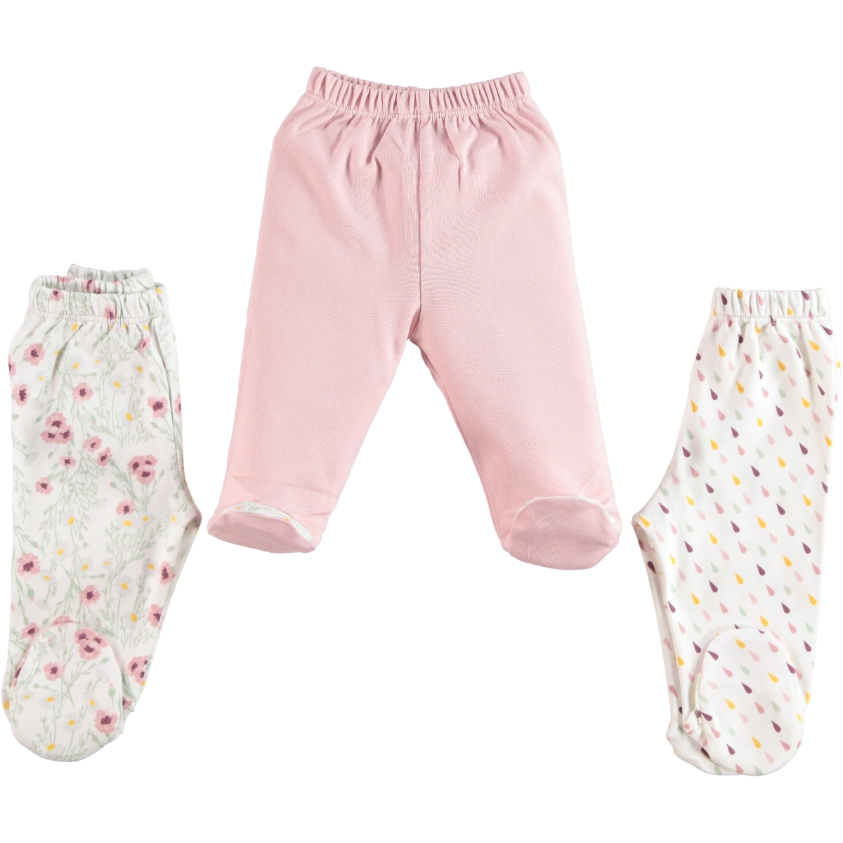 Misket Baby girls 3-baby booty powder pink 1-3 months, single child oh