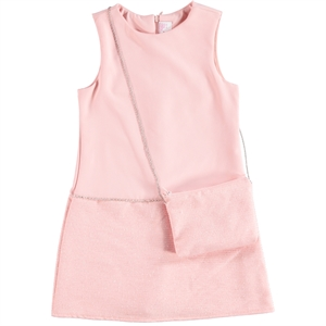 Missiva Powder Pink Girl Dress For 2-5 Age