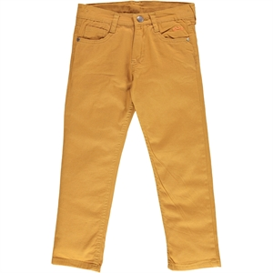 Civil Boys Age 6-9 Boy Linen Pants Mustard