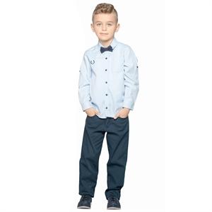 Civil Boys Navy Blue Linen Trousers Age 6-9 Boy