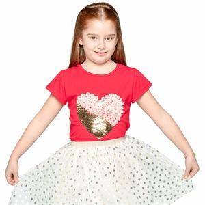 Civil Girls Girl Kids T-Shirt Age 6-9 Red