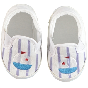 First Step Baby Boy White Booties 17-19 Number