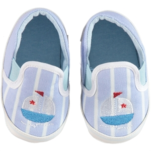 First Step Blue Baby Boy Booties 17-19 Number