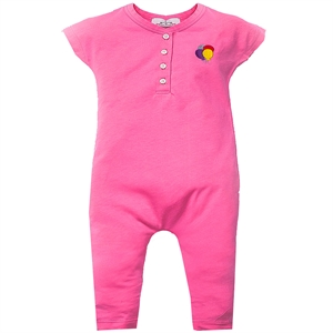 Shecco Babba Patterned Baggy Overalls Baby Girl Fuchsia Balloon