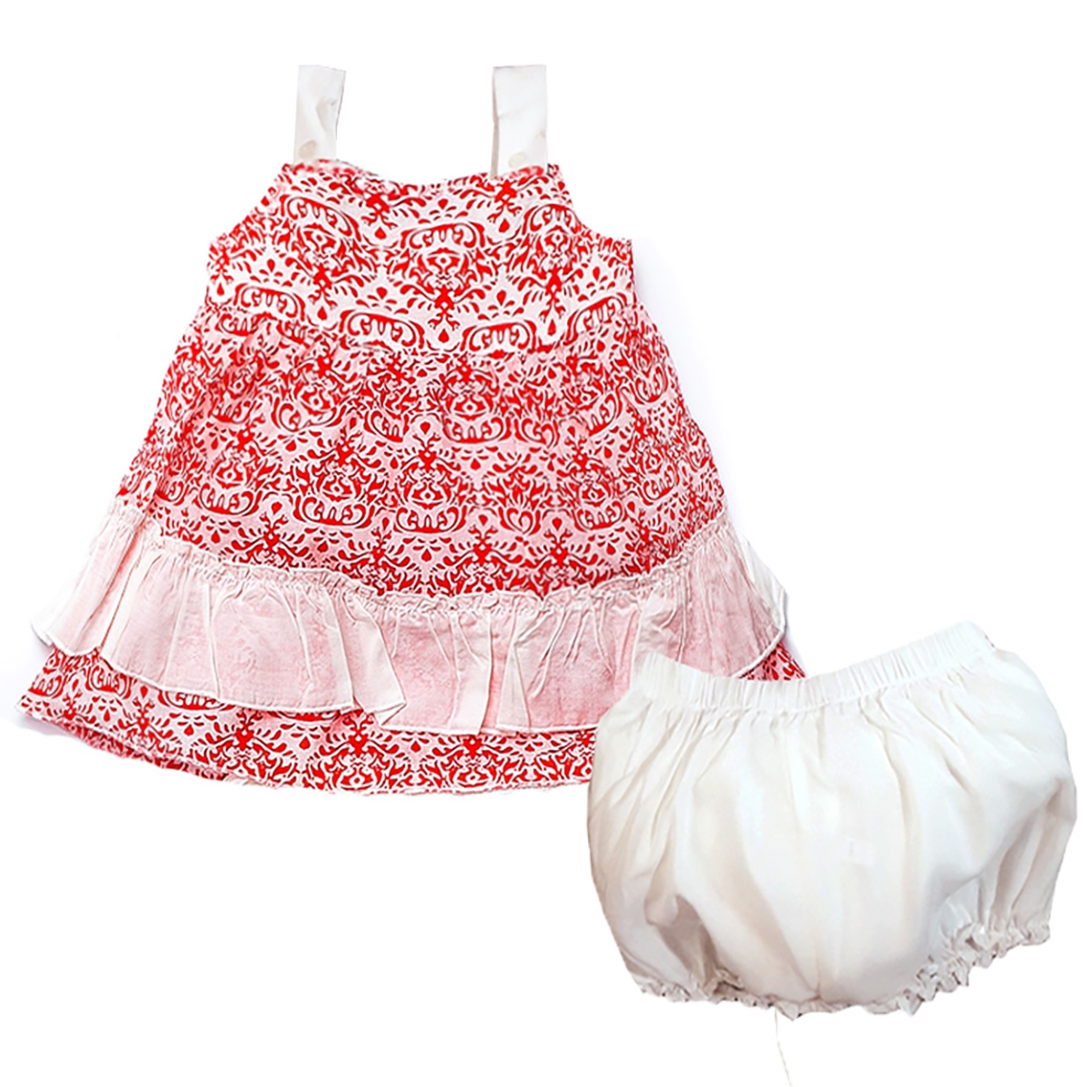 Shecco Babba A Frilly Dresses Shorts Baby Girl With A Strap Coral Team