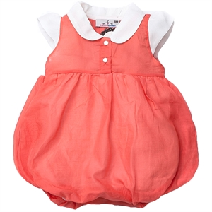 Shecco Babba Bubble Coral Collar Baby Jumpsuit Baby Girl